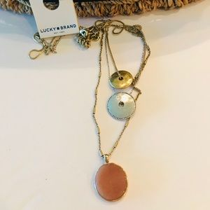 Lucky Brand NWT Medallion Layer Necklace Two Tone